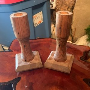 Wood Candle Stick holders